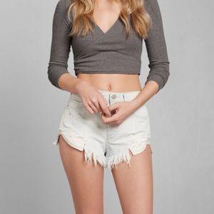 Abercrombie Kaylie ballet wrap sweater top
